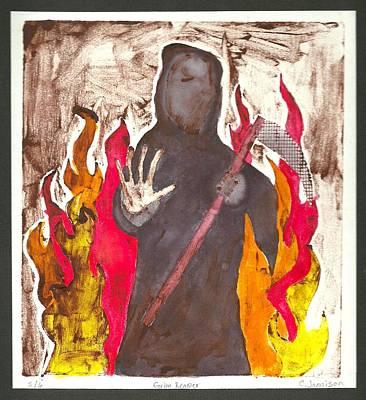Grim Mixed Media - Grim Reaper by Caitlin Jamison