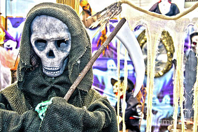 Photograph - Grim Reaper Halloween Decoration by Jill Lang