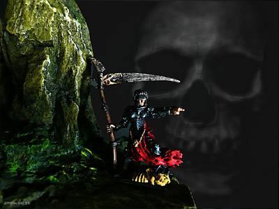 Grim Digital Art - Grim Reaper by Jefferson Hobbs