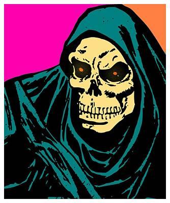 Reaper Mixed Media - Grim Reaper by Otis Porritt