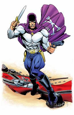 Drawing - Grim Reaper Super Hero In World War II by R Muirhead Art