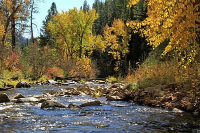 Photograph - Grimes Creek October by Ed  Riche