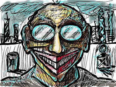 Digital Art - Grin by Joe Bloch