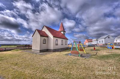 Grindavik Church Iceland Enhancer Art Print