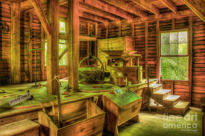 Art Print featuring the photograph Grindingworks Mingus Mill Great Smoky Mountains Art by Reid Callaway
