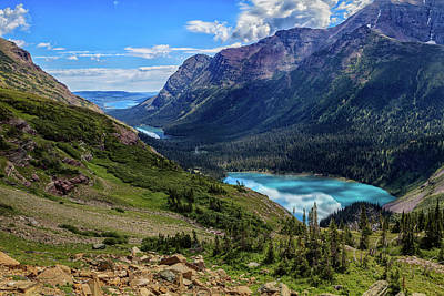 Outdoors Photograph - Grinell Hike In Glacier National Park by Andres Leon