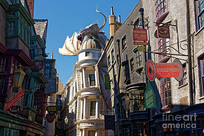 Photograph - Gringotts Bank Dragon by Paul Mashburn