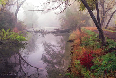 Photograph - Grings Mill Fog 015 by Scott McAllister