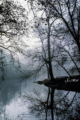 Photograph - Grings Mill Fog 1043 by Scott McAllister