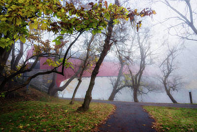 Photograph - Grings Mill Fog 15-001 by Scott McAllister