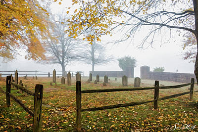 Photograph - Grings Mill Fog 15-024 by Scott McAllister