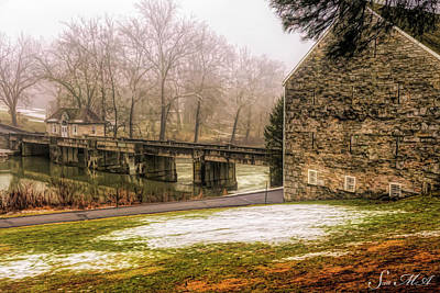 Photograph - Grings Mill Fog 18-048 by Scott McAllister