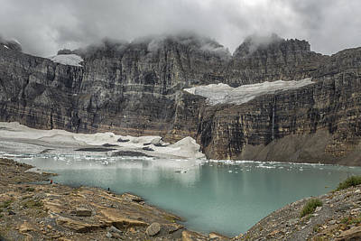 Photograph - Grinnell And Salamander Glaciers, Soon Things Of The Past by Belinda Greb