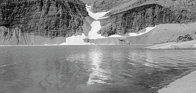 Photograph - Grinnell Glacier Black And White Panoramic  by John McGraw