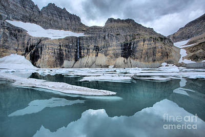 Photograph - Grinnell Glacier Cirque Reflections by Adam Jewell