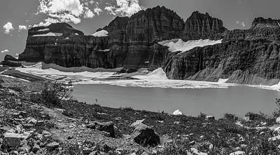Photograph - Grinnell Glacier In Black And White  by John McGraw