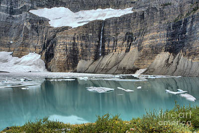 Photograph - Grinnell Glacier Over The Pond by Adam Jewell
