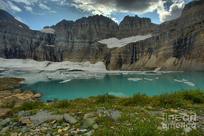 Photograph - Grinnell Glacier Pond by Adam Jewell