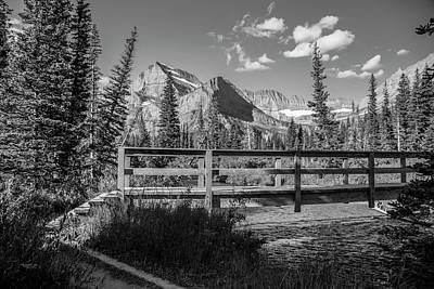 Photograph - Grinnell Glacier Trail Bridge  by John McGraw