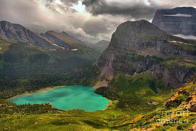 Photograph - Grinnell Glacier Trail Summer Storms by Adam Jewell