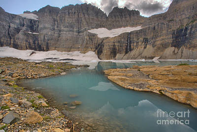Photograph - Grinnell Glacier Water Channels by Adam Jewell