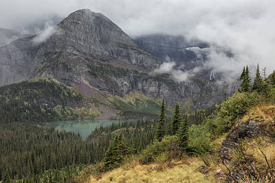Photograph - Grinnell Lake From The Trail No. 1 - Glacier Np by Belinda Greb
