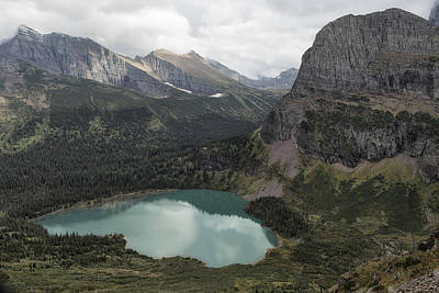 Photograph - Grinnell Lake From The Trail No. 2 - Glacier Np by Belinda Greb