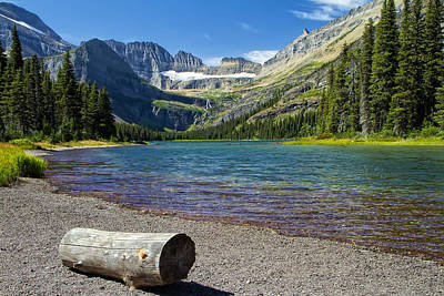 Photograph - Grinnell Lake Glacier Park Montana by Waterdancer