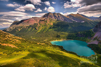 Photograph - Grinnell Lake In The Northern Rockies by Adam Jewell