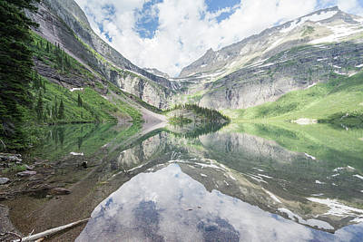 Photograph - Grinnell Lake Mirrored by Alpha Wanderlust