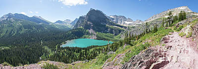 Photograph - Grinnell Lake Panoramic - Glacier National Park by Jason Kolenda