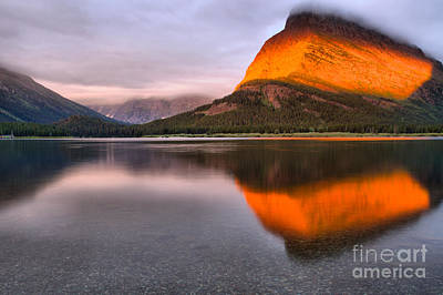 Photograph - Grinnell Orange Stripe Sunrise by Adam Jewell