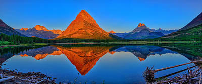 Photograph - Grinnell Point Alpenglow Panorama by Greg Norrell