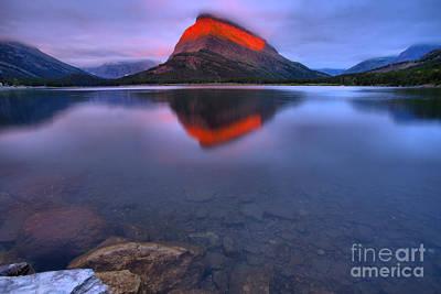 Photograph - Grinnell Sunrise Fiery Stripe by Adam Jewell