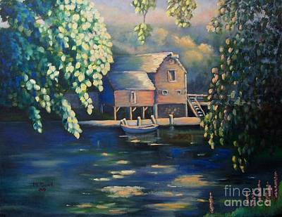 Painting - Grist Mill 2 by Marlene Book