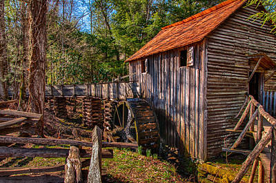 Photograph - Grist Mill At Cades Cove by Gene Sherrill