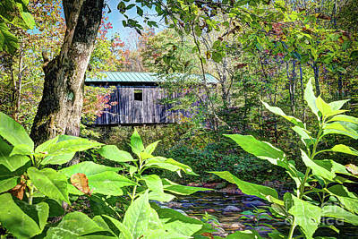 Photograph - Grist Mill Covered Bridge  by Deborah Klubertanz