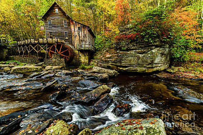Photograph - Grist Mill Fall Color by Thomas R Fletcher