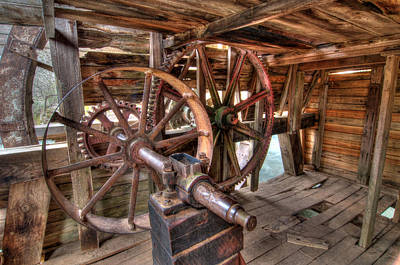 Photograph - Grist Mill Gears by Steve Stuller