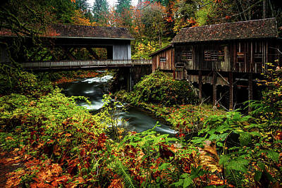 Photograph - Grist Mill by Hans Franchesco