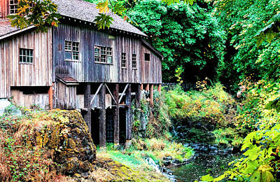 Photograph - Grist Mill In October by Athena Mckinzie