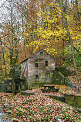 Photograph - Grist Mill In The Fall by Sharon Popek