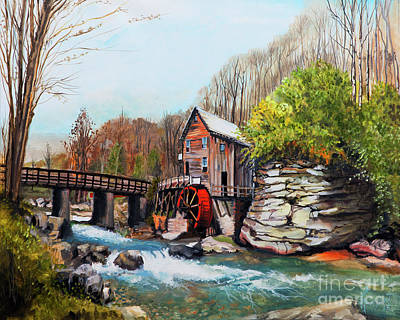 Grist Mill Drawing - Grist Mill by Jackie Bryant