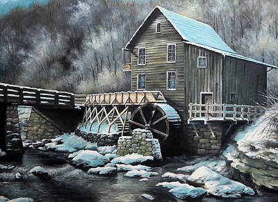 Grist Mill Original by Mike Worthen