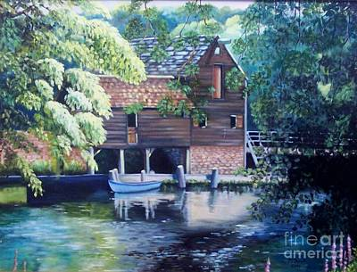 Grist Mill Painting - Grist Mill Philipsburg N Y by Marlene Book