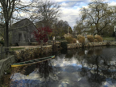 Photograph - Grist Mill Sandwich Massachusetts by Frank Winters