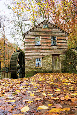 Photograph - Grist Mill Side View by Sharon Popek