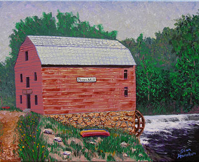 Grist Mill Art Print by Stan Hamiilton