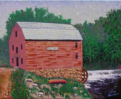 Grist Mill Print by Stan Hamilton