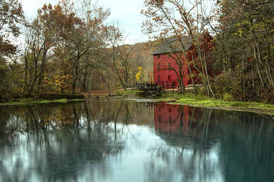 Grist Mill Wreflections Art Print